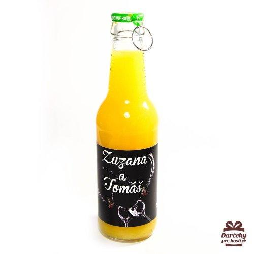 Svatební ovocný nápoj pro hosty, motív S001 - Svatební ovocný nápoj