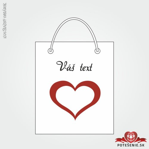 Taška na dárek pro svatební hosty, motív T137