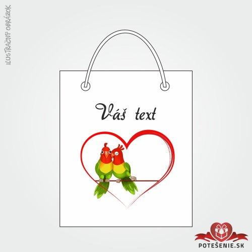 Taška na dárek pro svatební hosty, motív T138