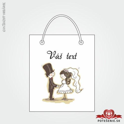 Taška na dárek pro svatební hosty, motív T141