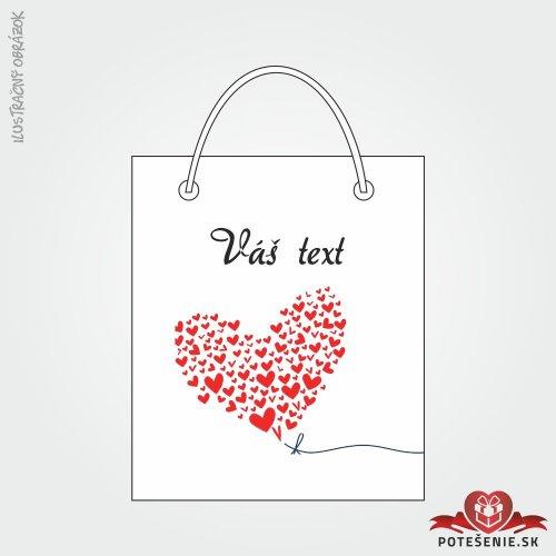 Taška na dárek pro svatební hosty, motív T143