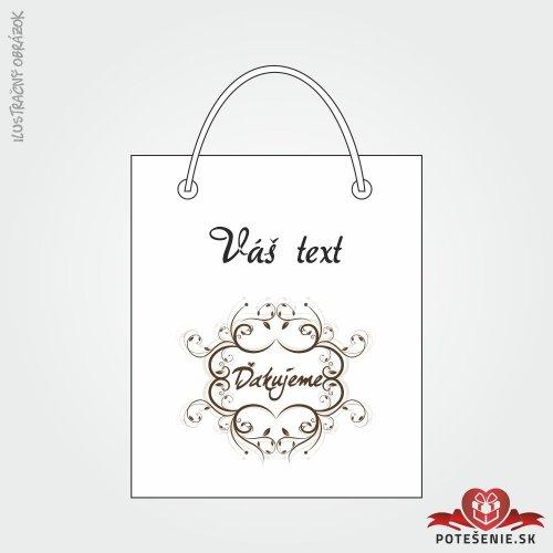 Taška na dárek pro svatební hosty, motív T126