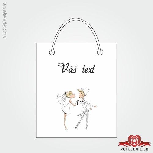 Taška na dárek pro svatební hosty, motív T130