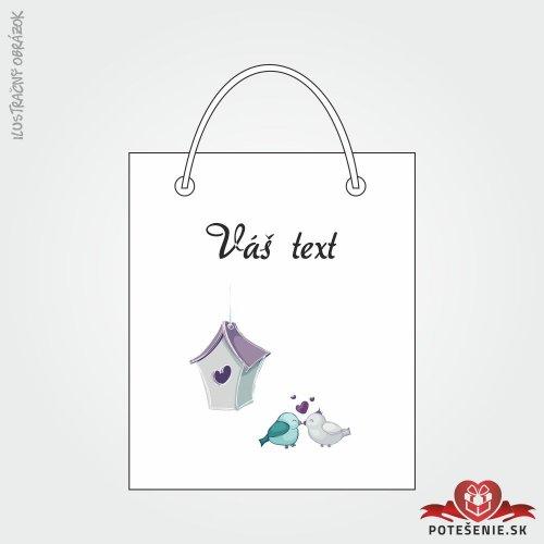 Taška na dárek pro svatební hosty, motív T131