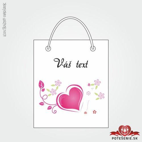 Taška na dárek pro svatební hosty, motív T134