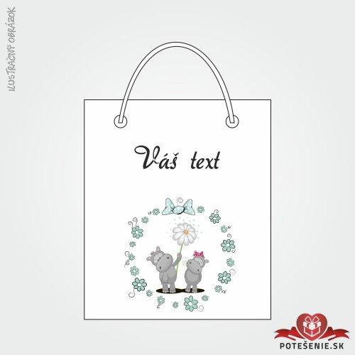 Taška na dárek pro svatební hosty, motív T135
