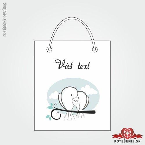 Taška na dárek pro svatební hosty, motív T136