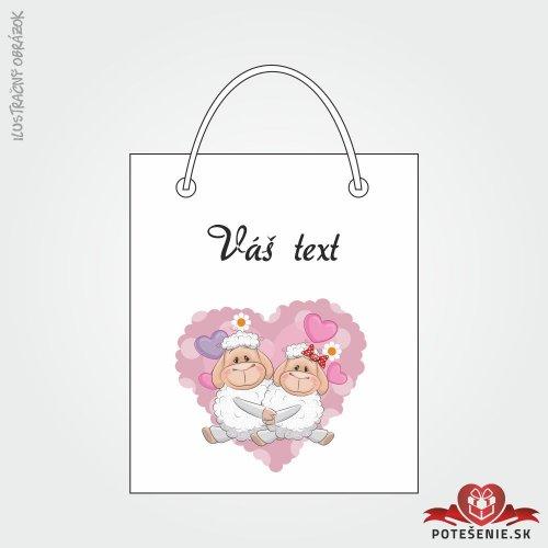Taška na dárek pro svatební hosty, motív T116