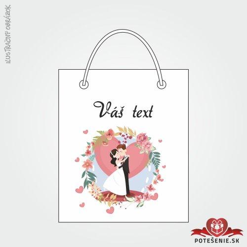 Taška na dárek pro svatební hosty, motív T117