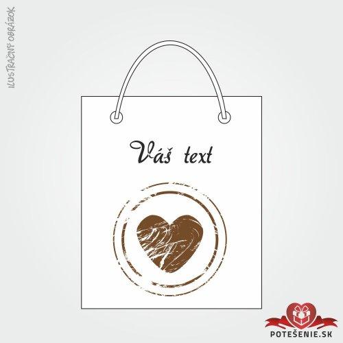 Taška na dárek pro svatební hosty, motív T118
