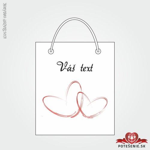 Taška na dárek pro svatební hosty, motív T119
