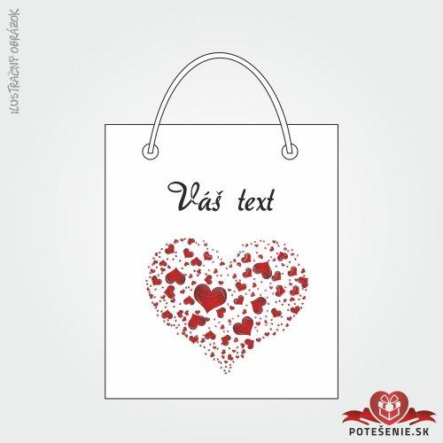 Taška na dárek pro svatební hosty, motív T121