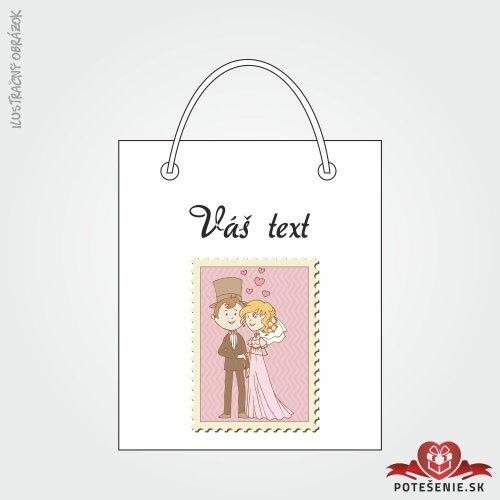 Taška na dárek pro svatební hosty, motív T124