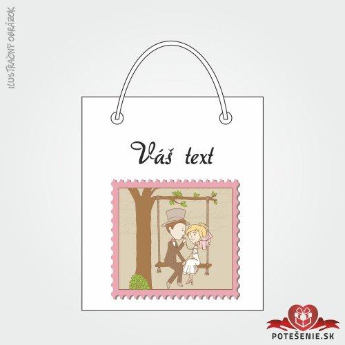 Taška na dárek pro svatební hosty, motív T125