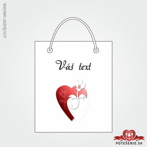 Taška na dárek pro svatební hosty, motív T128