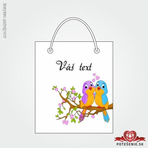 Taška na dárek pro svatební hosty, motív T111