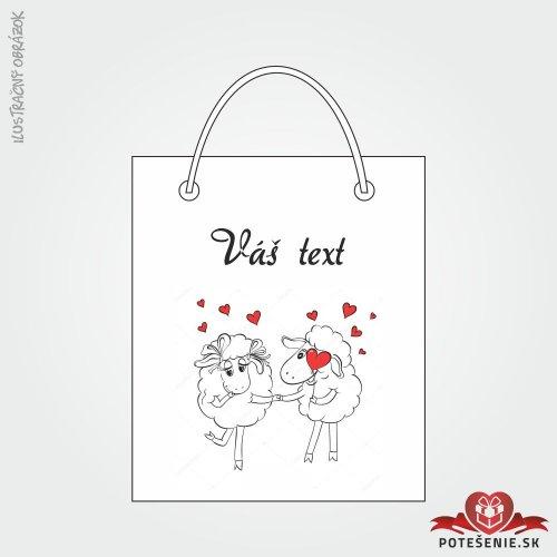Taška na dárek pro svatební hosty, motív T112