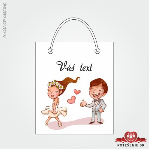 Taška na dárek pro svatební hosty, motív T114