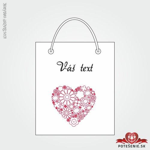 Taška na dárek pro svatební hosty, motív T115