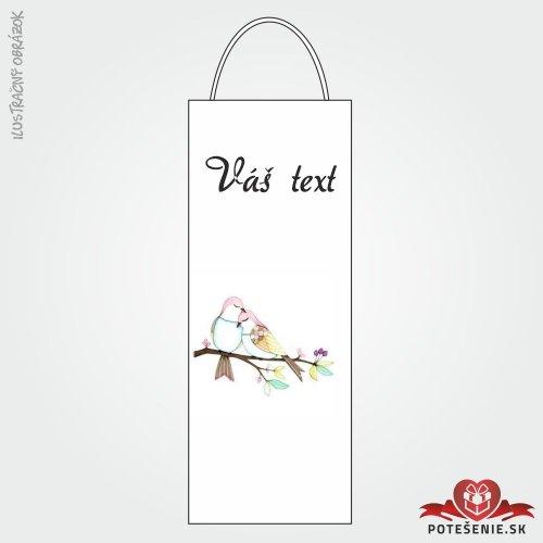 Taška na víno pro svatební hosty, motív T127