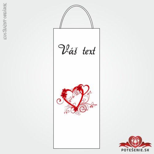 Taška na víno pro svatební hosty, motív T128