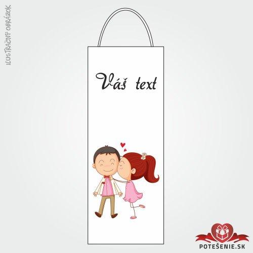 Taška na víno pro svatební hosty, motív T129