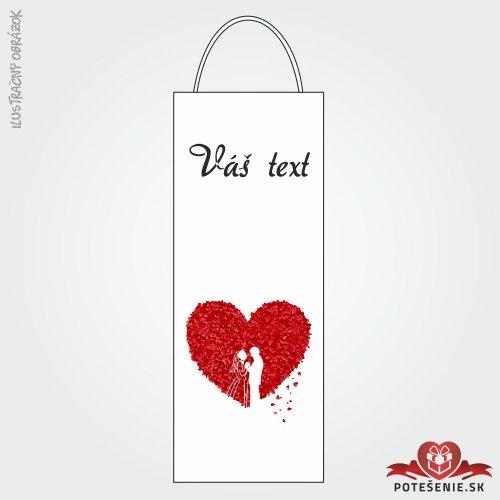 Taška na víno pro svatební hosty, motív T118