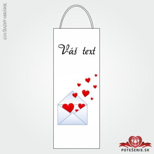 Taška na víno pro svatební hosty, motív T121