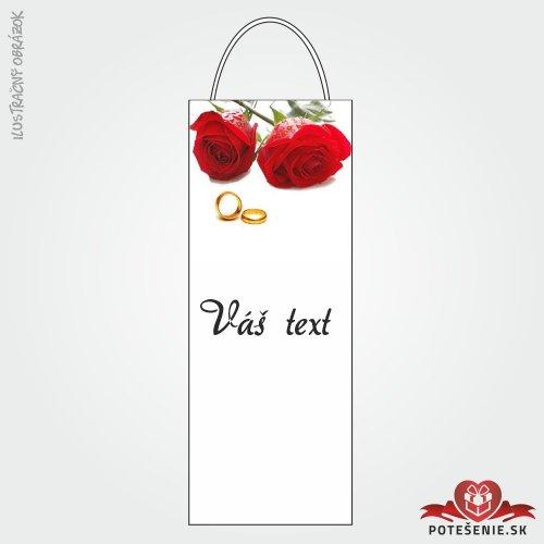 Taška na víno pro svatební hosty, motív T122