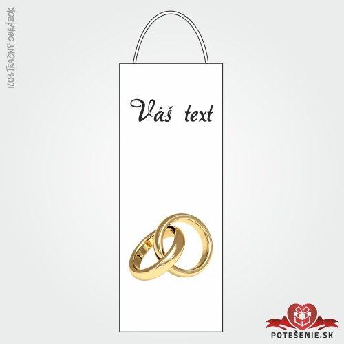 Taška na víno pro svatební hosty, motív T123