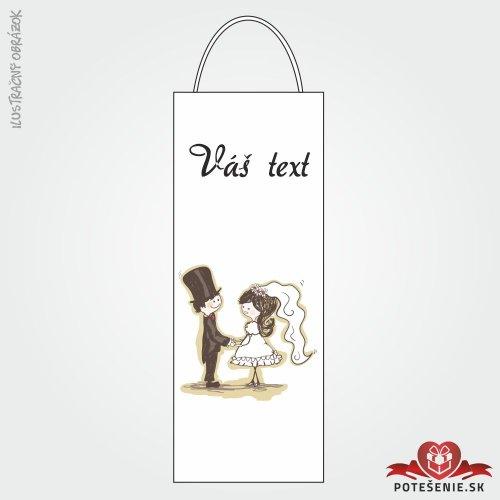 Taška na víno pro svatební hosty, motív T126