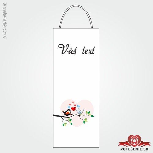 Taška na víno pro svatební hosty, motív T106