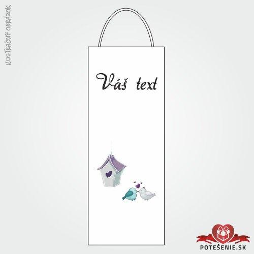Taška na víno pro svatební hosty, motív T107