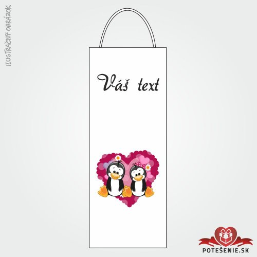 Taška na víno pro svatební hosty, motív T110