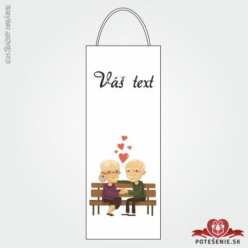 Taška na víno pro svatební hosty, motív T112