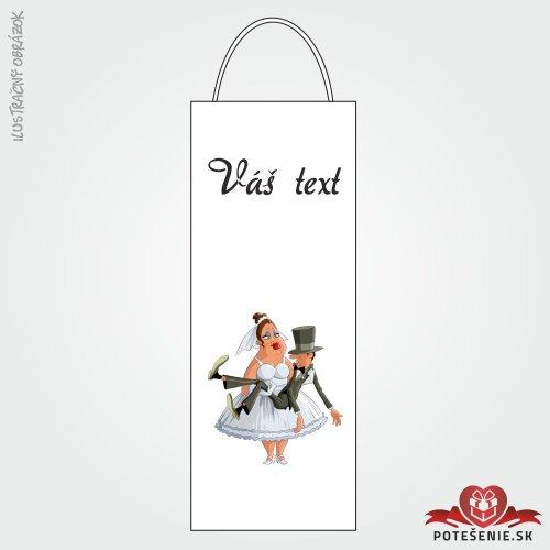 Taška na víno pro svatební hosty, motív T103