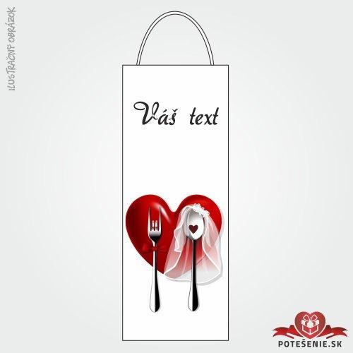 Taška na víno pro svatební hosty, motív T104