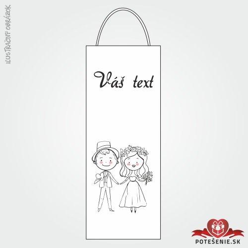 Taška na víno pro svatební hosty, motív T036
