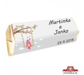 Svatební čokoládka Rumba pro hosty, motív S001