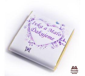 Svatební mini čokoládka, motív S001