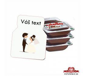 Svatební mini Nutella, motív S001