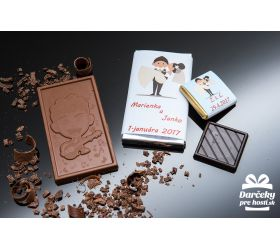 Svatební čokoládka, motív S001