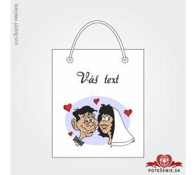 Taška na dárek pro svatební hosty, motív T142