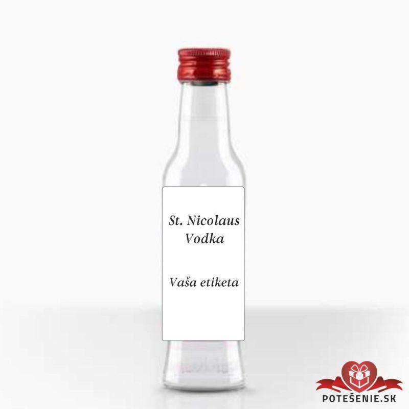 Svatební mini lahvička s alkoholem, motív S139 - Svatební lahvičky malé