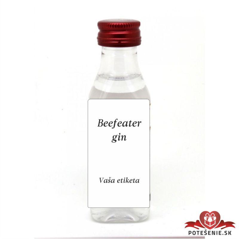 Svatební mini lahvička s alkoholem, motív S290 - Svatební lahvičky malé